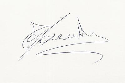 A 14 cm x 9 cm white card. Personally signed by footballer Fabio Cannavaro.