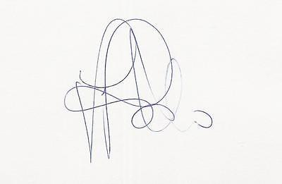 A 14 cm x 9 cm white card. Personally signed by footballer Gianluca Pessotto.