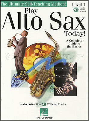Play Alto Sax Today Level 1 Music Book & Audio Learn How to Play Beginner Method