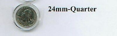 DIRECT FIT AIR TITE COIN CAPSULES FOR QUARTER 24.3 MM 10 LOT 06007