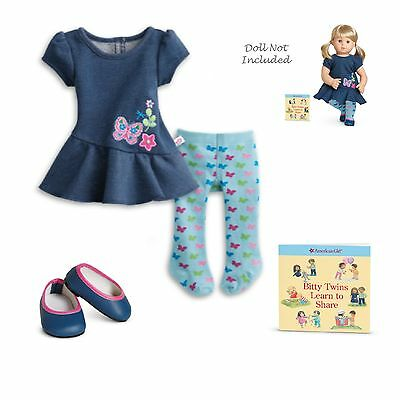 "American Girl BT BITTY TWIN GARDEN PLAY OUTFIT for 15"" Baby Dolls Dress NEW"