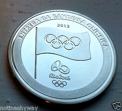 SILVER London 2012 Rio 2016 Olympics Torch Hand Over Games Brazil Great Britian