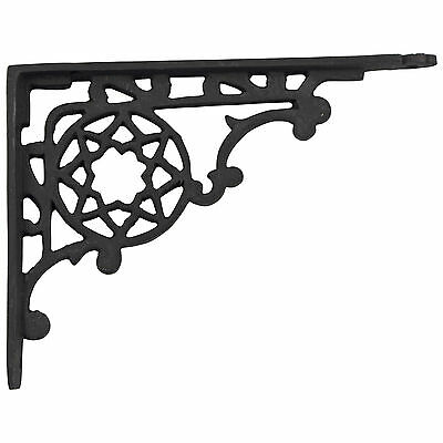 Victorian Cast Iron Shelf Bracket antique vintage REPRODUCTION black 9""