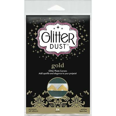 Therm-O-Web Scrapbook Adhesives Gold Glitter Dust Scrapbook Photo Corners