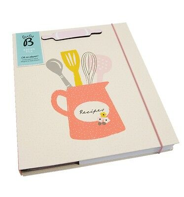 NEW! Busy B A4 Recipe File Storage Organiser with Stand Floral