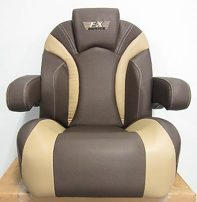 Larson Boat New OE FX Quality Low Back Bucket Recliner Captain Seat Brown/Tan
