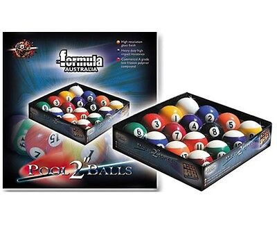 "Premium Super Pool Billiard BALLS 2"" inch Box Set includes 2"" White Cue Ball"