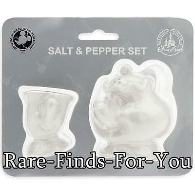 Disney Parks Beauty and the Beast Mrs. Potts and Chip Salt Pepper Shaker Set NEW