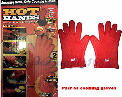 As Seen On TV - Hot Hands Amazing Heat-Safe Cooking Gloves Free Shipping