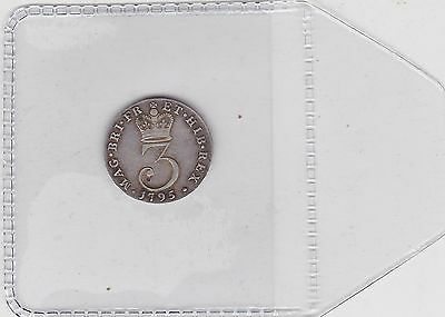 1795 George Iii Maundy Threepence In Extremely Fine Condition