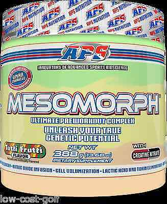 APS MESOMORPH USA Pre Workout Crazy Intense Energy Focus Pump Strength 25 serv