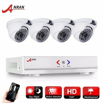 4CH AHD 1800tvl DVR 720P Camera Home Video System CCTV Sensor IP66 Security