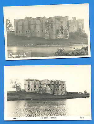 Carew Castle.2 Real Photographic Postcards