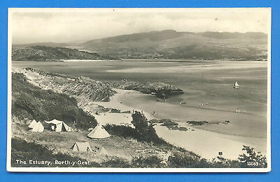 The Estuary,borth-Y-Gest.real Photographic Postcard