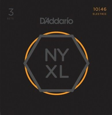 D'Addario NYXL1046-3P Regular Light 10-46 Electric Guitar Strings (X3 Sets)
