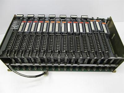 Allen-Bradley 1771-AD 16-Slot PLC-5 Backplane Chassis w/ Lot of I/O Modules