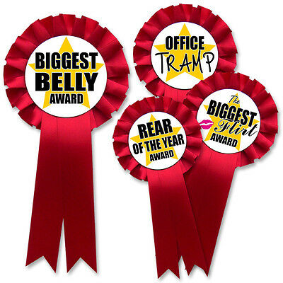 Novelty Gift Funny Rosette Prize Awards - Great Joke Xmas / Birthday Present