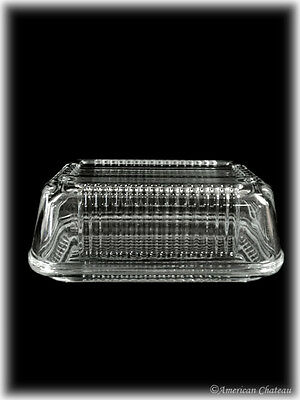 1 Lb Tempered Clear Glass Oval 1Lb Covered Butter Dish Gift Box w Lid