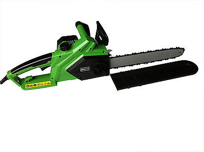 Charles Bentley 2000W 40cm Electric 230V Chainsaw With Bar & Chain with 6m Cable