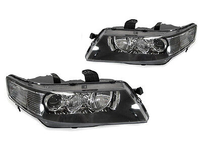 DEPO Euro Black Clear D2S Projector Headlight+LED Plate Bulb for 04-08 Acura TSX