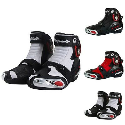 Classical Motorcycle Boots Anti-slip Cycling Rubber Soles Shoes Simple Booties