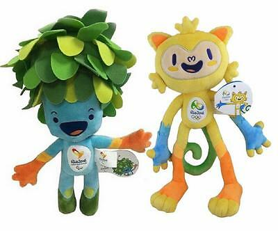 Hot 2016 Brazil Rio Olympic Games Mascot Vinicius & Tom Official Plush Toy Doll