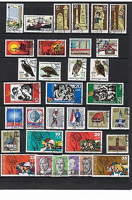 STAMPS  GERMANY - DDR SELECTION  of 33     (FU - CTO)    lot 1235