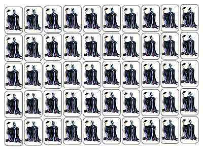 "50 Maleficent Envelope Seals / Labels / Stickers, 1"" by 1.5"""