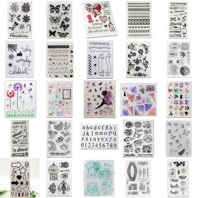Transparent Silicone Rubber Stamp Sheet Cling Scrapbooking Diary Card DIY Craft