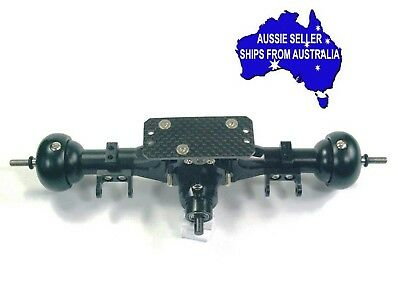 Complete assembled alloy heavy duty rear axle for Axial SCX 1:10 RC  Topcad