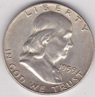 Usa 1959 Franklin Half Dollar In Good Extremely Fine Condition