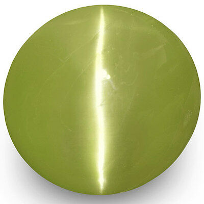 4.89-Carat 10mm Round Greenish Yellow Chrysoberyl Cat's Eye