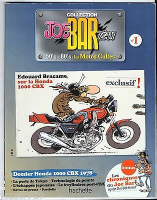 FASCICULE JOE BAR TEAM n°2 # EDOUARD BRACAME/HONDA 1000 CBX # SANS LA FIGURINE