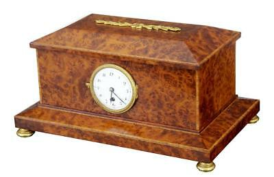 1920's BURR YEW WOOD CLOCK BOX • £495.00