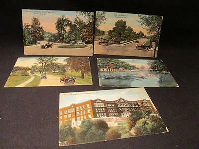 Kansas City Rock Hill Blvd, Westport High, Club District, Santa Fe 5 Postcards