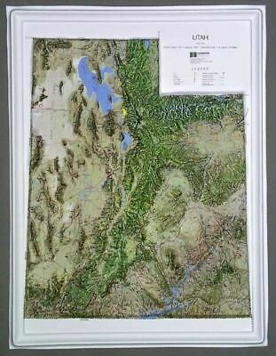 Utah State Raised Relief Map - Natural Color Relief Style