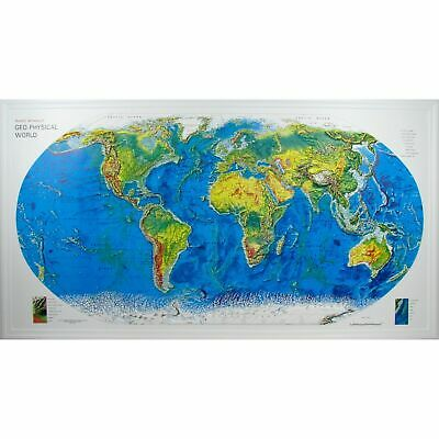 World Geo-Physical Raised Relief Map