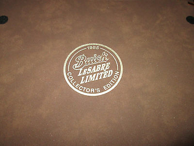 1985 buick lesabre limited collector's edition information packet