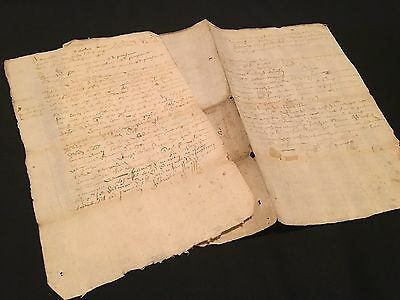 LOT OF OLD PAPERS 1600s