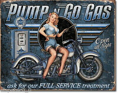 Tin Sign 31 x 40, Pump N Go Gas, USA Advertising Sign Art. #1698