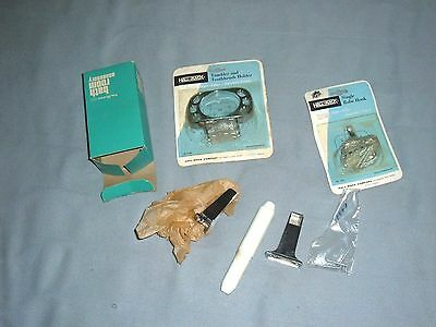 3 retro vtg nos chrome bathroom toilet paper holder  tooth brush robe hook 1960s