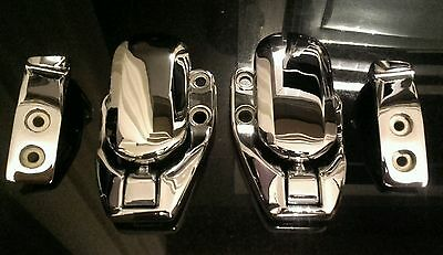 MGF MGTF CHROME TRIPLE PLATED SOFT TOP HARDTOP CATCHES New unused Genuine MG