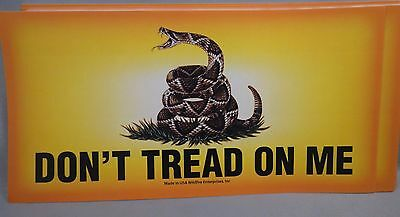 WHOLESALE LOT OF 10 GADSDEN DON'T TREAD ON ME FLAG STICKERS Tea Party Trump $ US