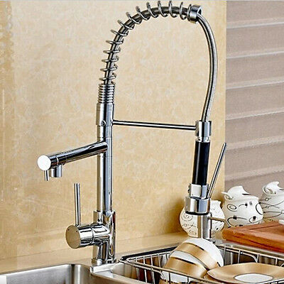 AU Modern Stylish Kitchen Pre-Rinse Pull Out Faucet Mixer Tap Swivel