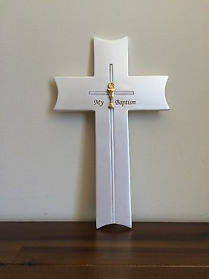 My Baptism Day Religious Wall Cross Christening Gift