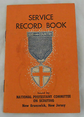 vintage boy scout promise service record book national protestant
