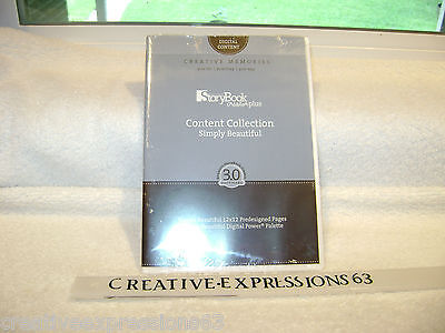 Creative Memories StoryBook Creator Plus Content Collection Simply Beautiful BN