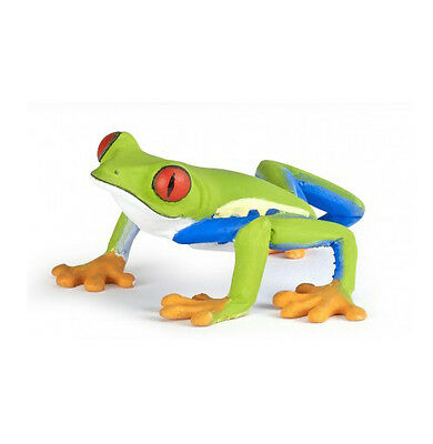 Papo 50210 Red-Eyed Tree Frog Model Figurine Toy New for 2016 - NIP