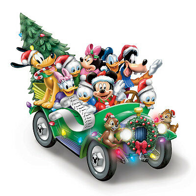 Once Upon a Holiday Disney Christmas Car Ride Figurine Bradford Exchange