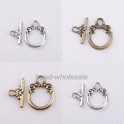 Wholesale 30sets Tibetan silver Toggle Jewelry Clasp Findings Free Shipping